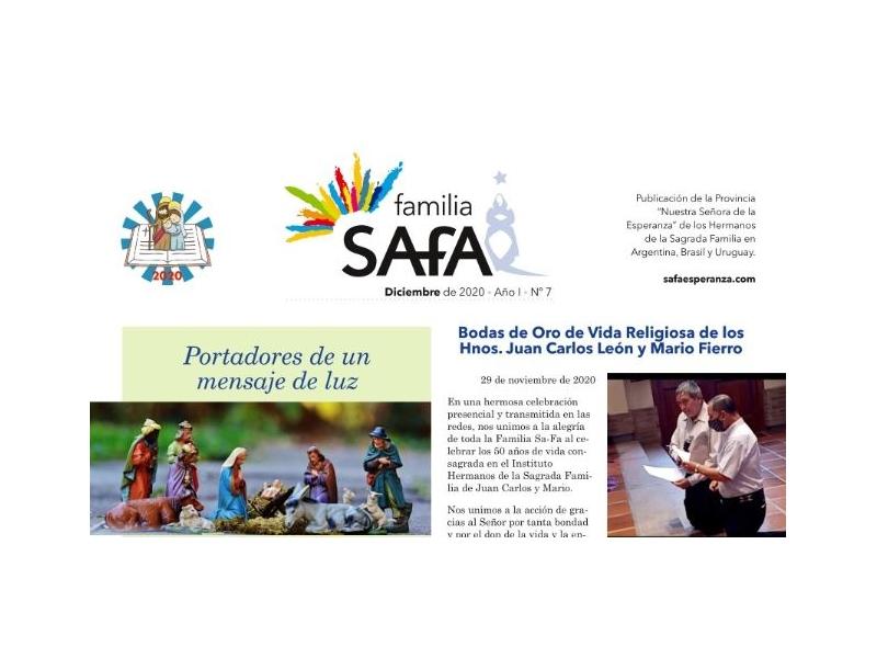 Boletín Familia SAFA - Diciembre 2020. - Colegio San José Tandil