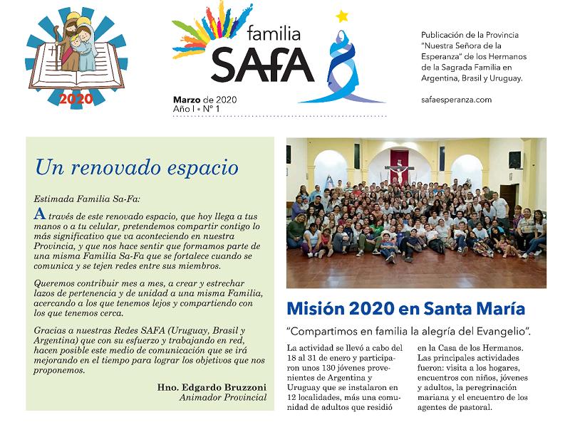 Boletín Familia-Safa Mar-2020 - Colegio San José Tandil