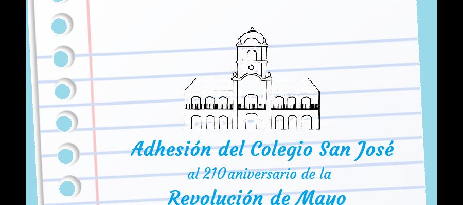 Adhesión al 210 aniversario de la Revolución de Mayo - Colegio San José Tandil