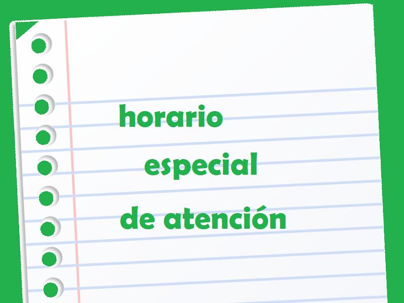 Horario especial de atención - Colegio San José Tandil
