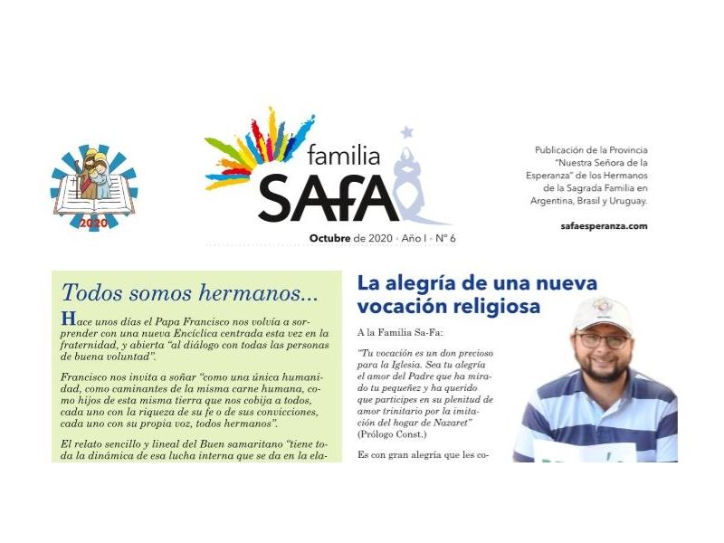 Boletín Familia SAFA - Octubre 2020. - Colegio San José Tandil