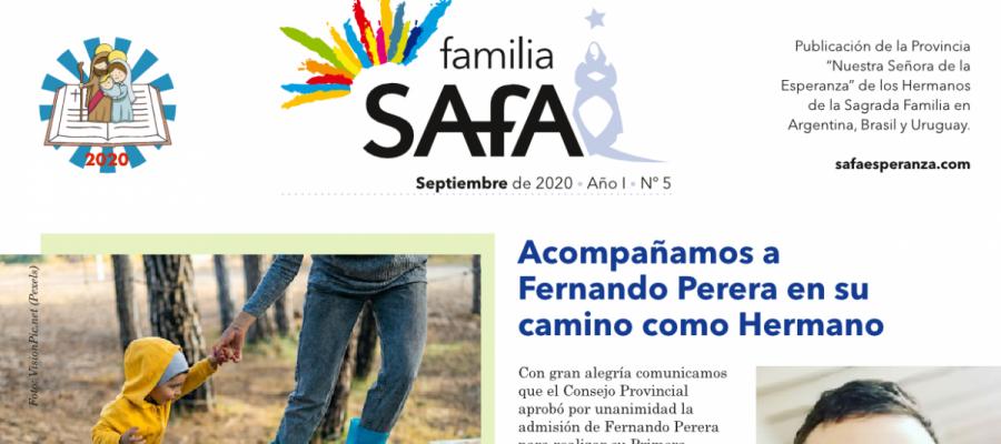 Boletín Familia SAFA - Septiembre 2020. - Colegio San José Tandil