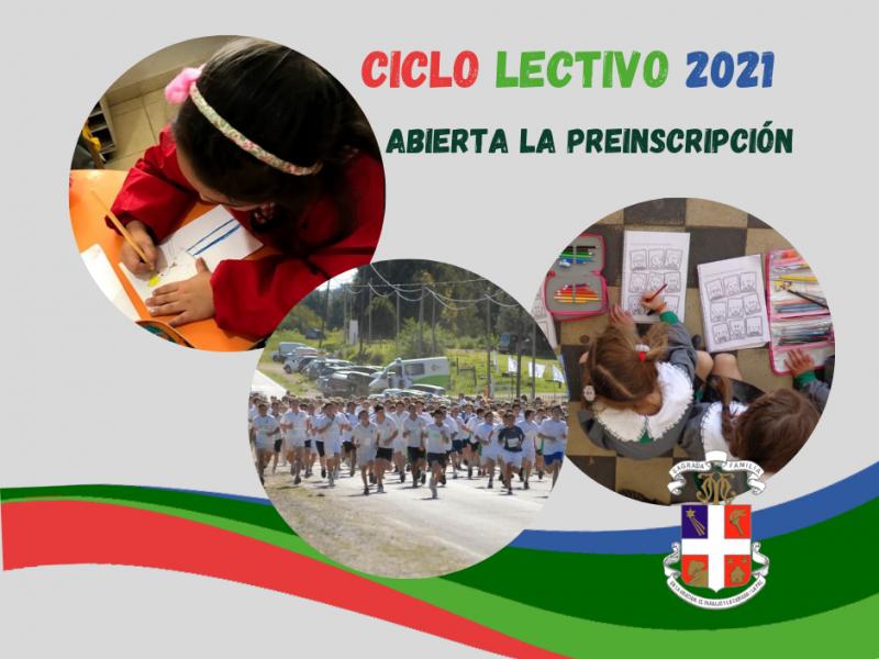 Continúa abierta la  Pre-inscripción para Alumnos Nuevos. Ciclo Lectivo 2021 - Colegio San José Tandil