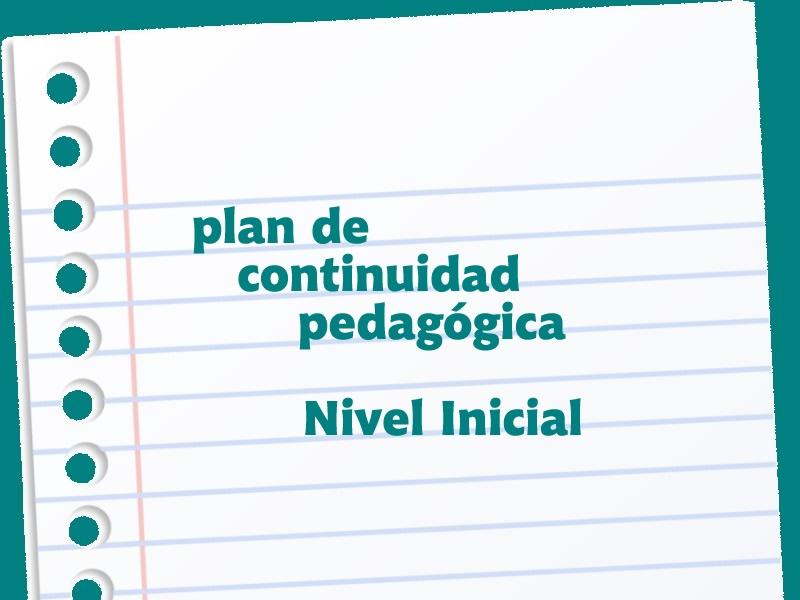 PLAN DE CONTINUIDAD PEDAGÓGICA - NIVEL INICIAL - Colegio San José Tandil
