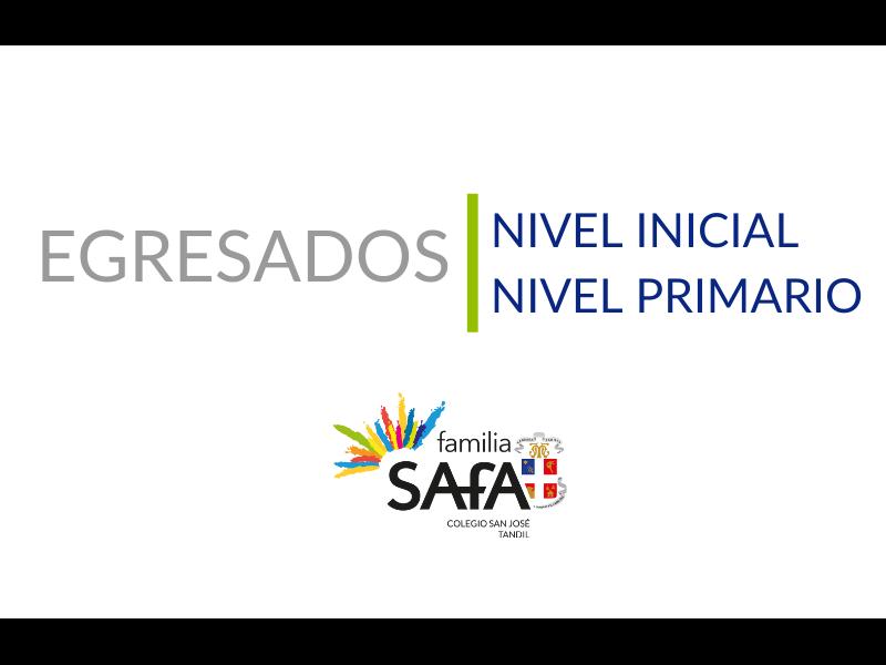 Remeras de Egresados de los alumnos de Nivel Inicial y Primario - Colegio San José Tandil