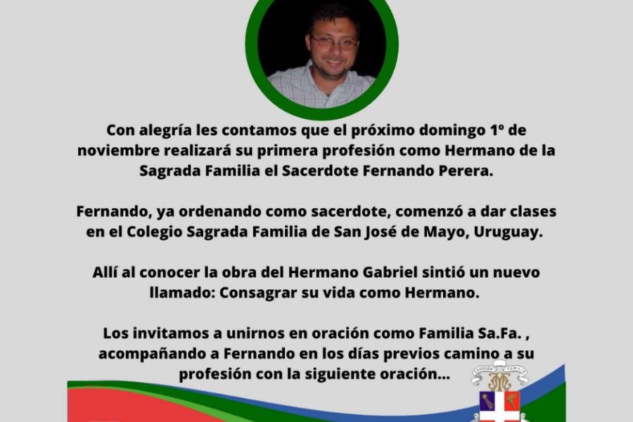 Profesión Fernando Perera - Colegio San José Tandil