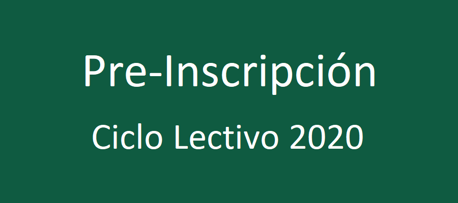 Pre-inscripción para el ciclo lectivo 2020 - Colegio San José Tandil
