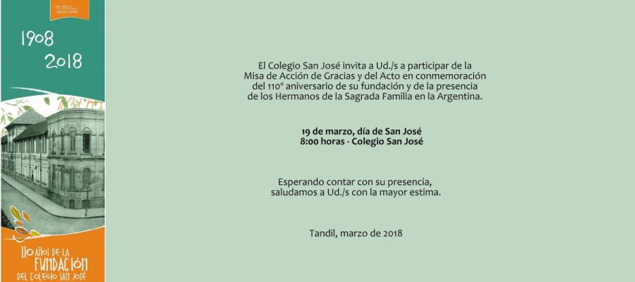 Celebración del 110 aniversario del Colegio - Colegio San José Tandil